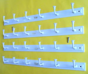 Buy Door / Wall Hook Hanger White Elegant 6 Hook Cloth Hanger (set Of 4) online
