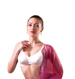Buy V Star Woven Pointed Bra With Seamed Cup - Saree Mate online