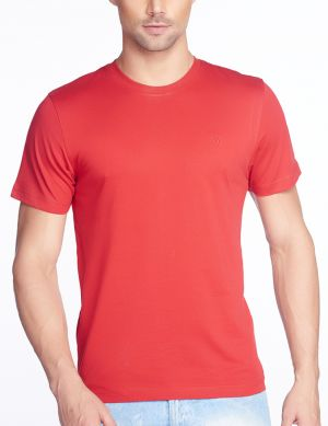 Buy V Star Mens Cotton Tango Red Round Neck T Shirt online