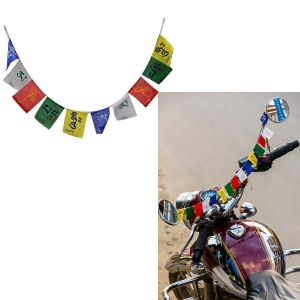 Buy Spidy Moto Cotton Tibetan Buddhist Prayer Flags Laddakh Flag For Car And Bike (small), Multicolour online