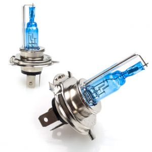 Buy Spidy Moto Xenon Hid Type Halogen White Light Bulbs H4 - Mahindra Gusto 125 online