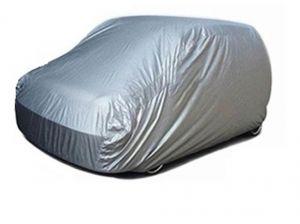 Buy Spidy Moto Elegant Steel Grey Color With Mirror Pocket Car Body Cover Tata Aria online