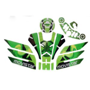 Buy Spidy Moto 011 Tank Pad With Fuel Cap Sticker And Side Knee Pad
