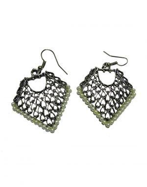 Buy Snoby White Pearl Triangle Jhumki Sbyrsj_013 online