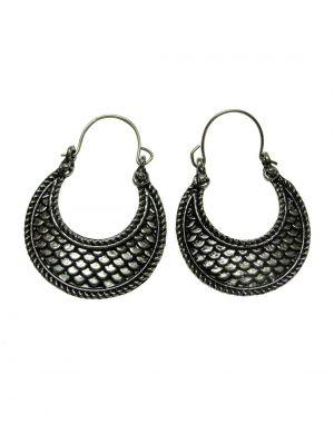 Buy Snoby Black Metal Fish Style Earings Sbyrsj_014 online