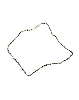 Buy Snoby Black Silver And Gold Plated Neck Stylish Chain Sbyrsj_025 online