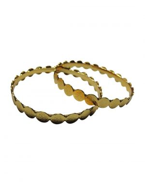 Buy Snoby Round Lakshmi Gold Plated Bangles Sbyrsj_029 online