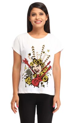 Buy Rock Star Print T-shirt (sby1308) online