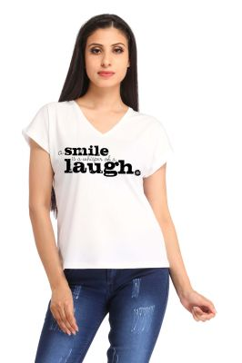 Buy Snoby A Smile Laugh Print T-shirt (sby1325) online