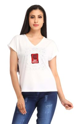 Buy Snoby Red Box Print T Shirt (sbypt1431) online