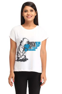 Buy Snoby Never Give Up Your Hearts Print T Shirt (sbypt1468) online