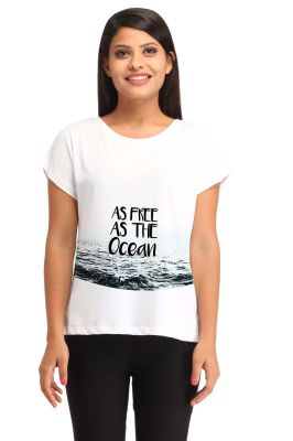 Buy Snoby Free As Ocean Print T Shirt (sbypt1476) online