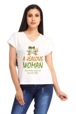 Buy Snoby A Jealous Women Print T Shirt (sbypt1489) online