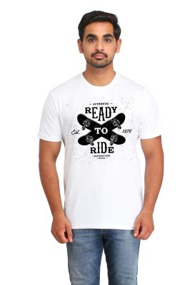 Buy Snoby Ready To Ride Printed T-Shirt online