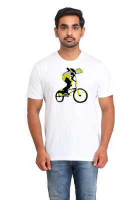 Buy Snoby Cycle Riding Printed T-Shirt online