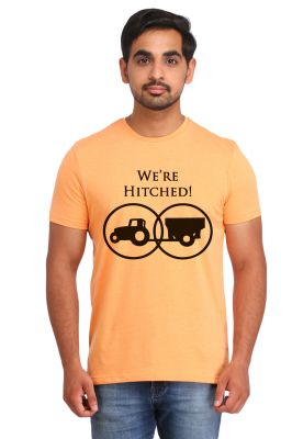 Buy Snoby Wr Re Hitched Printed T-shirt (sby15478) online