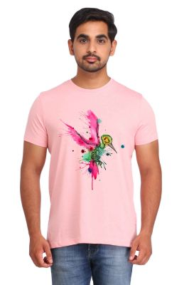Buy Snoby Colored Bird Print T-Shirt online