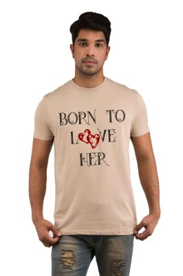 Buy Snoby Born To Love Her Printed T-Shirt online