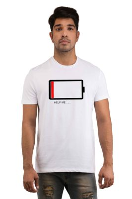 Buy Snoby Battery Printed T-Shirt online