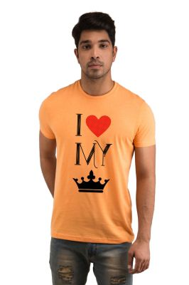 Buy Snoby I Love My Queen Printed T-Shirt online
