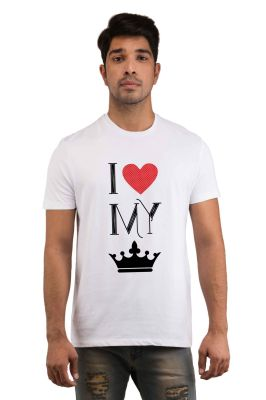Buy Snoby I Love My Queen Printed T-shirt(sby18036) online