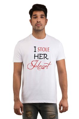 Buy Snoby Stealing her Heart Printed T-shirt online