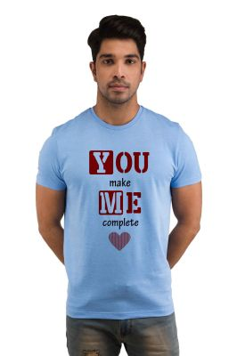 Buy Snoby YOU make ME complete Printed T-shirt online
