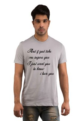 Buy Snoby Love Quote Printed T-shirt(sby18144) online