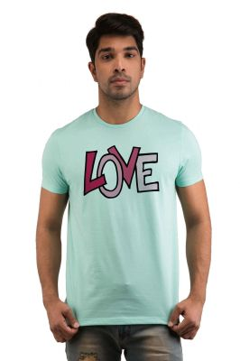 Buy Snoby Pink Love Printed T-Shirt online
