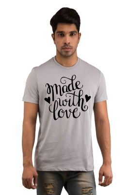 Buy Snoby Made With Love Printed T-Shirt online