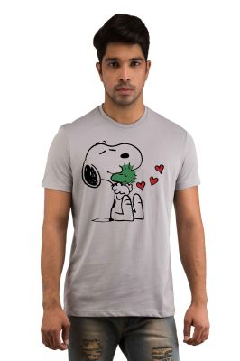 Buy Snoby Puppy Morning Printed T-shirt(sby18207) online