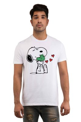 Buy Snoby Puppy Morning Printed T-Shirt online