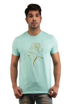 Buy Snoby Golden Rose Printed T-shirts (sby18234) online