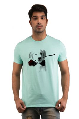 Buy Snoby Puppy Rose Printed T-Shirts online