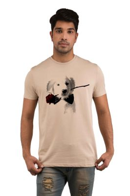 Buy Snoby Puppy Rose Printed T-shirts (sby18243) online