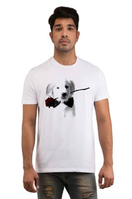 Buy Snoby Puppy Rose Printed T-shirts (sby18246) online