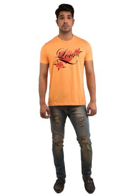 Buy Snoby Rose Frame Printed T-shirts (sby18251) online