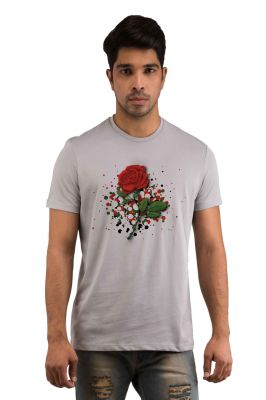 Buy Snoby Roses Printed T-shirts (sby18256) online