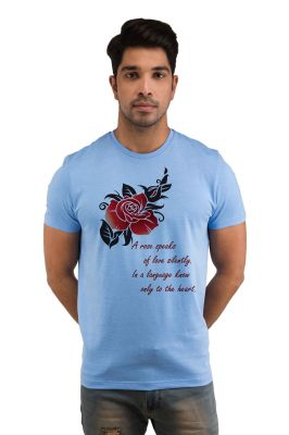 Buy Snoby A Rose Speaks Printed T-shirts (sby18268) online