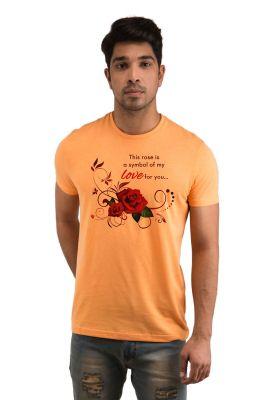 Buy Snoby Rose Love Printed T-shirt online