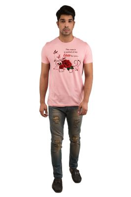 Buy Snoby Rose Love Printed T-shirt (sby18308) online