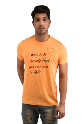 Buy Snoby Want Hand To Hold Printed T-shirt online