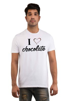 Buy Snoby I Love Chocolate Printed T-shirt online