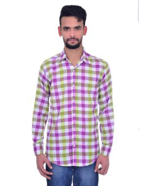 Buy Snoby Cotton Shirt In Multi Tonal Plaid (sby8023) online