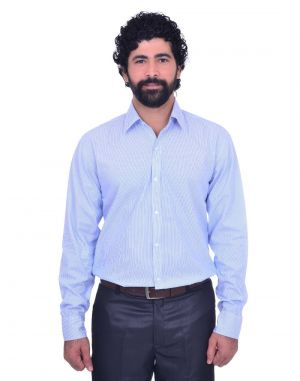 Buy Snoby Casual Cotton Shirt In Light Blue (sby8028) online