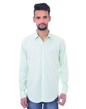 Buy Snoby Plaid Cotton Shirt In Light Green (sby8030) online