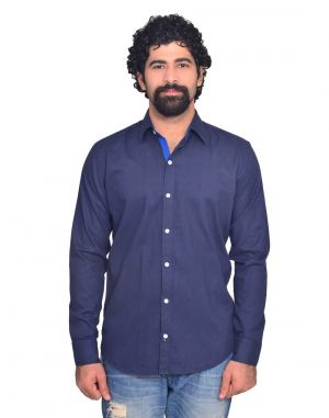 Buy Snoby Navy Blue Casual Cotton Shirt (sby8041) online