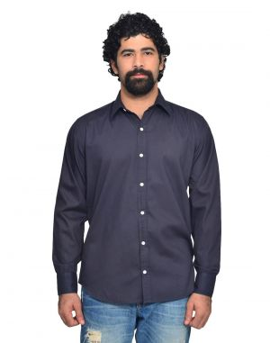 Buy Snoby Grey Colored Casual Cotton Shirt online