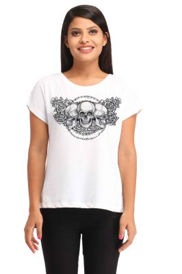 Buy Snoby Three Skull Printed T-shirt (sbypt1624) online