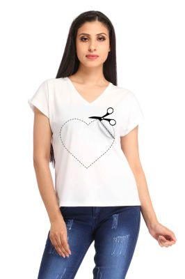 Buy Snoby Love Cut Printed T-shirt (sbypt1677) online
